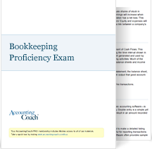 Bookkeeping Proficiency Exam